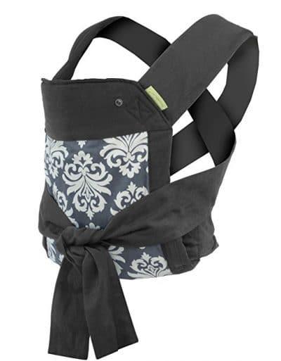 Ergobaby 360 Ergonomic Baby Carrier Infantino Sash Mei Tai Carrier, Black/Gray