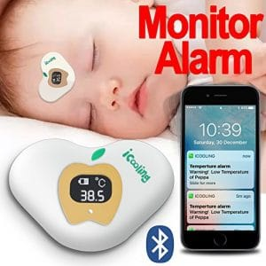 FaShaoLe Wearable Smart Digital Bluetooth Baby Thermometer Monitor with Alarm