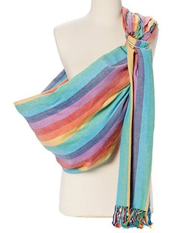 Hip Baby Wrap Ring Sling Hip Baby Wrap Ring Sling Baby Carrier for Infants and Toddlers Summer Rainbow