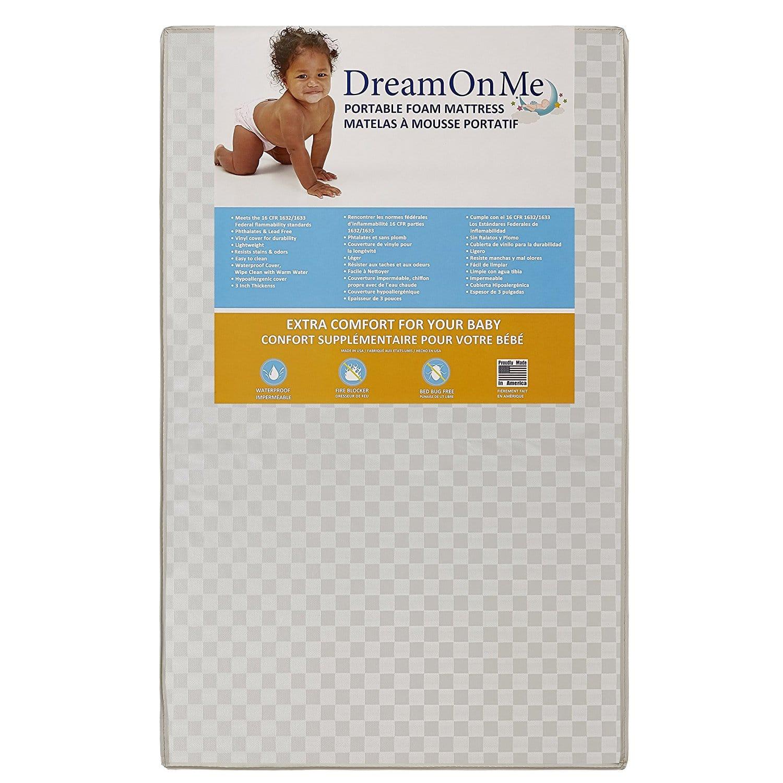 Dream On Me 3 MiniPortable Crib Mattress – Best Mini Crib Mattress
