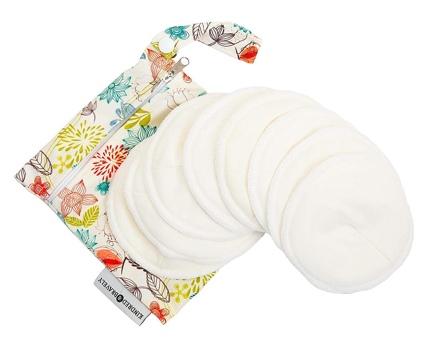 Kindred Bravely Washable Organic Contoured Reusable Nursing Breastfeeding Pad