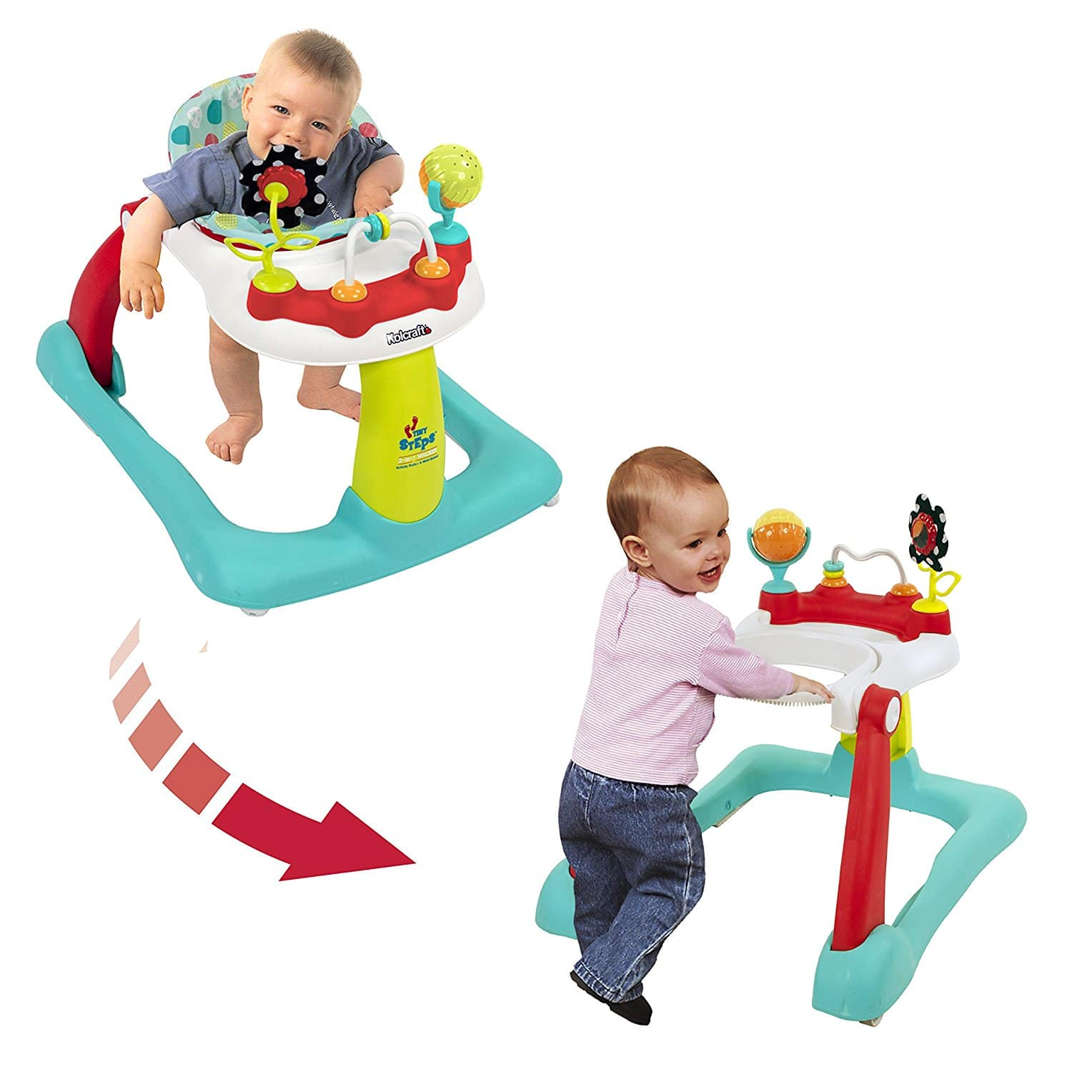 Kolcraft Tiny Steps 2-in-1 Activity Walker – Best 2-in-1 Baby Walker