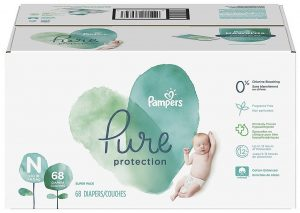 Pampers Pure Hypoallergenic Disposable Baby Diapers