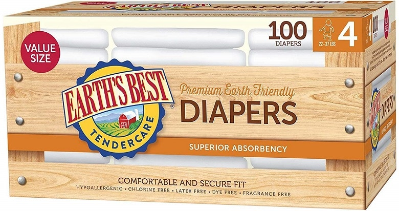 Earth's Best TenderCare Disposable Baby Diapers