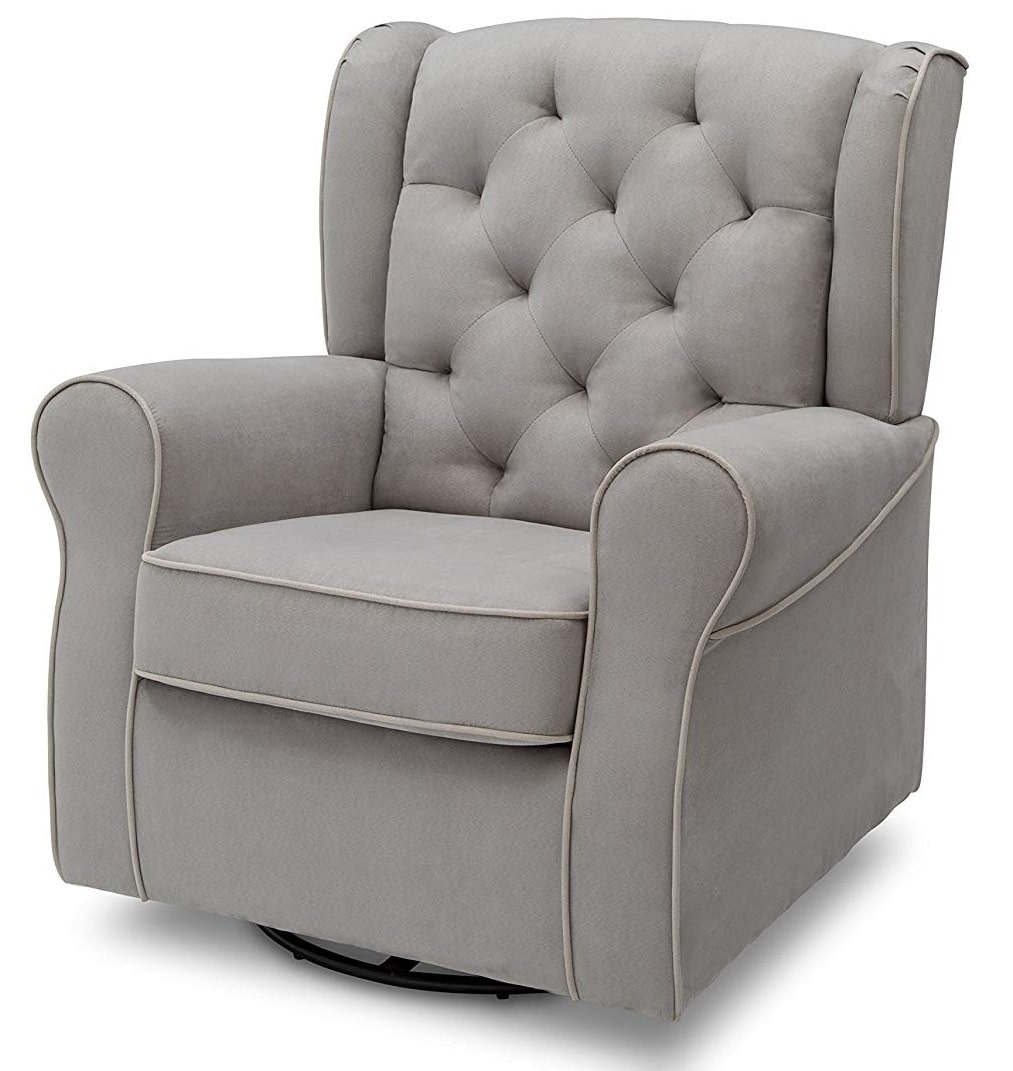 Delta Furniture Dove Grey with Soft Grey Welt Chair