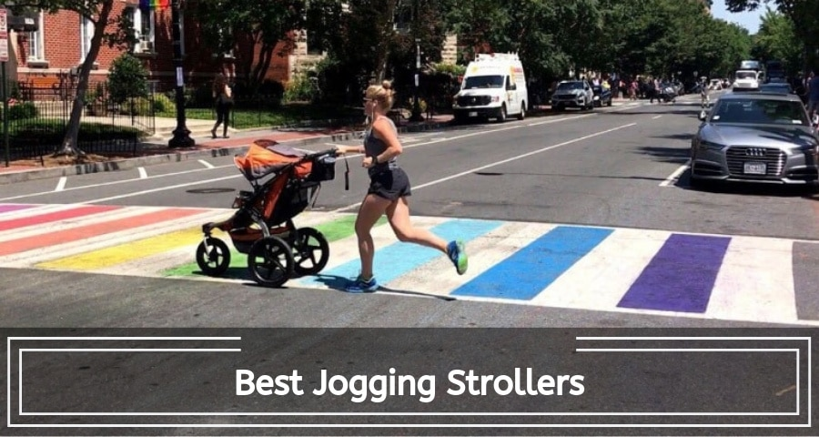mom jogging with her child