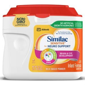 Similac Sensitive For Neuro Support, Non-GMO Infant Formula with Iron