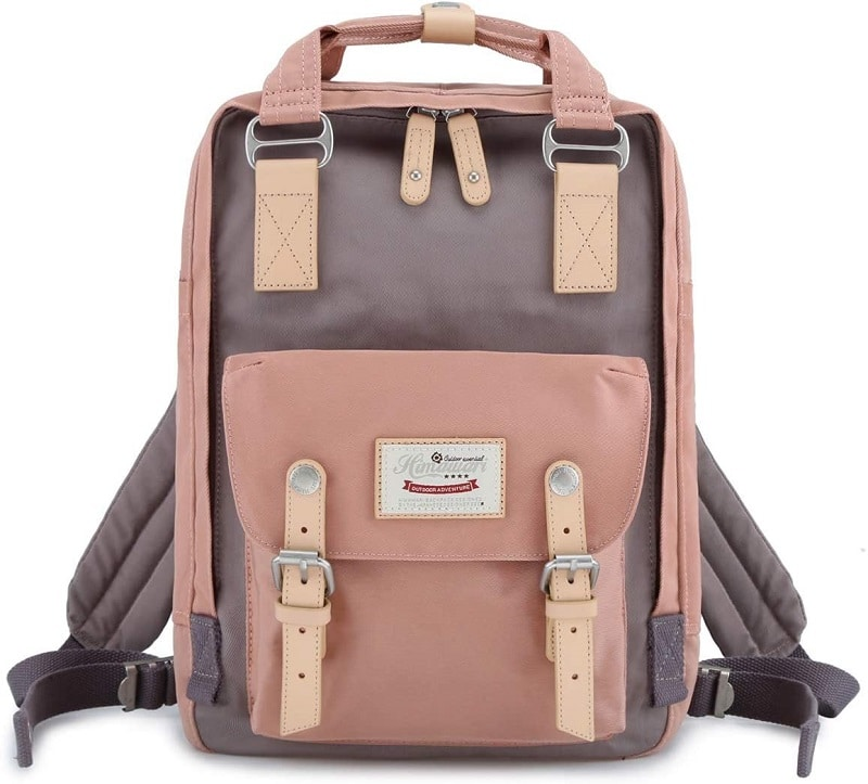 Waterproof Pink and Gray Backpack