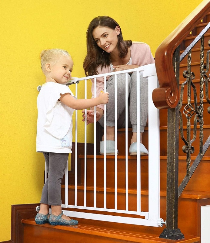Baby Gate for Stairs with Extra Wide