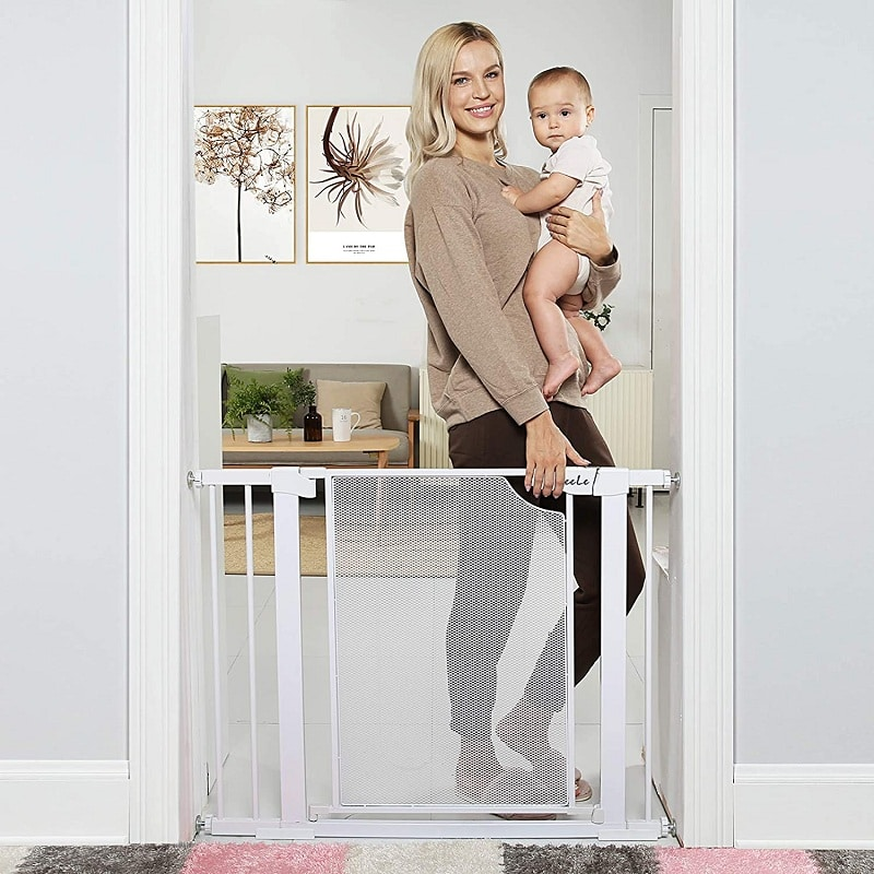 Durable Extra Wide Child Gate for Stairs