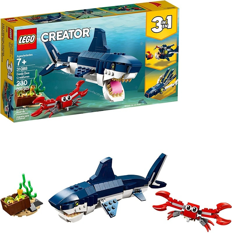 LEGO Creator 3in1 Deep Sea Creatures Make a Shark
