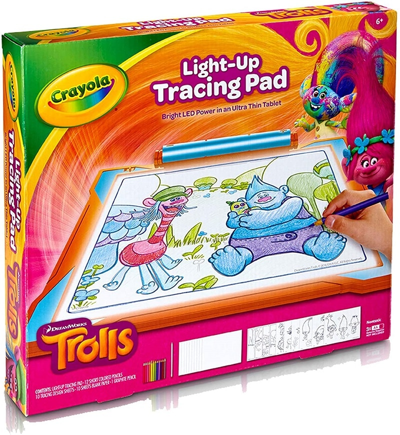 Crayola Trolls World Tour Light Up Tracing Pad